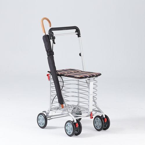 《安心生活》日式EZGO銀髮族 休閒購物推車-貴族黑