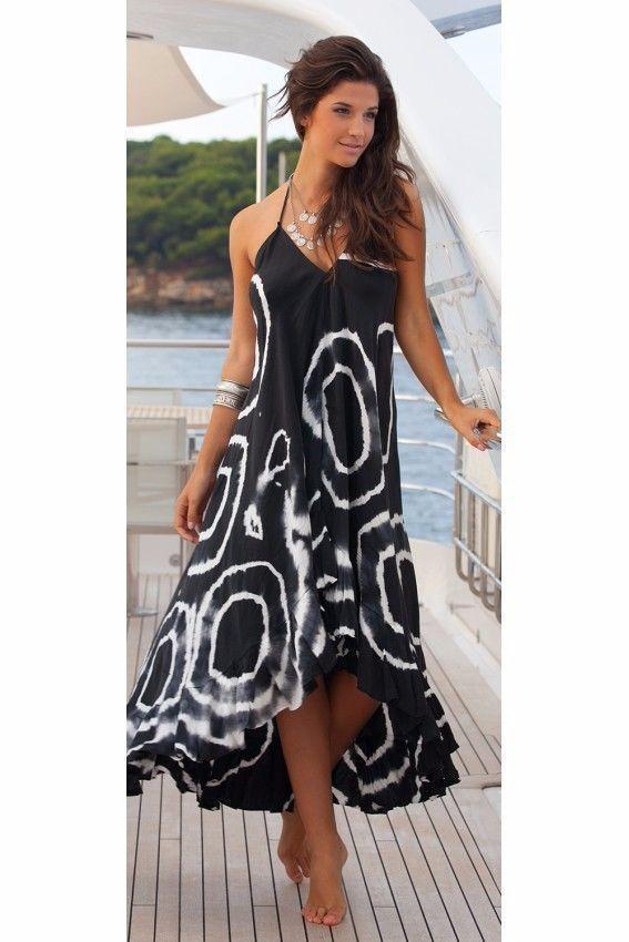 6a44ecc919 Women Summer Boho Chiffon Party Evening Beach Dresses Long Maxi Dress  Sundress 0