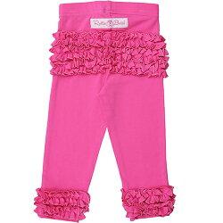 【美國 RuffleButts】小公主甜美荷葉邊蕾絲長褲-糖果粉(BRLP07)