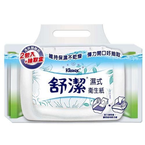 舒潔濕式衛生紙40抽X2入+盒【愛買】