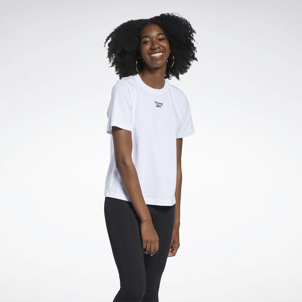 【領券最高折$300】Reebok CLASSICS 女裝 短袖 T恤 休閒 小LOGO 純棉 白【運動世界】GK7687