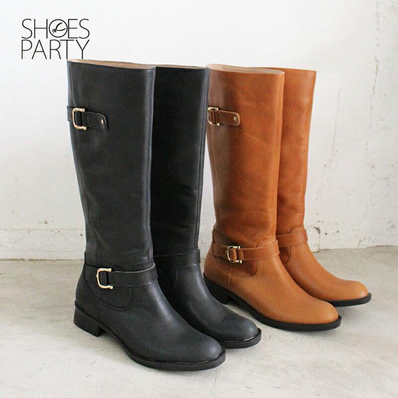 【B2-17430L】全真皮雙扣率性乘馬靴_Shoes Party 2