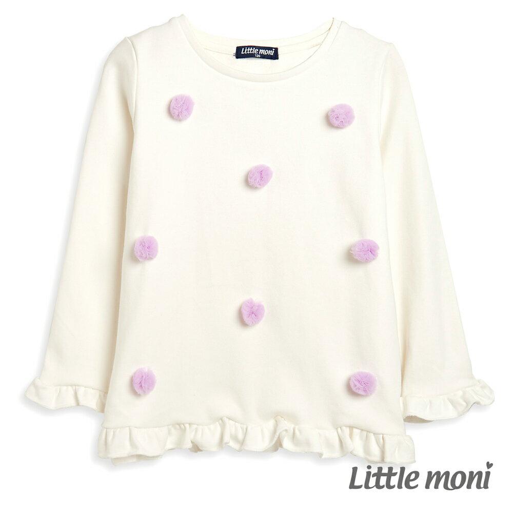Little moni 立體花朵上衣-白色(好窩生活節) 0