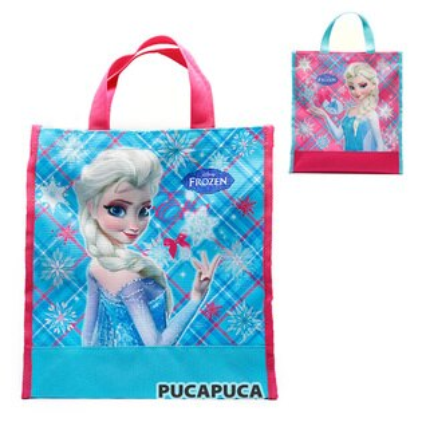 X射線 精緻禮品:X射線【C62951A】冰雪奇緣直式提袋,書袋購物袋便當袋手提袋開學必備