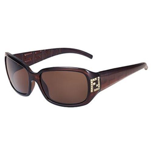 FENDI水鑽LOGO太陽眼鏡350R