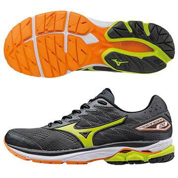 J1GC170340(黑X黃綠)暢銷鞋款第20代 WAVE RIDER 20 雲波浪男慢跑鞋 A【美津濃MIZUNO】