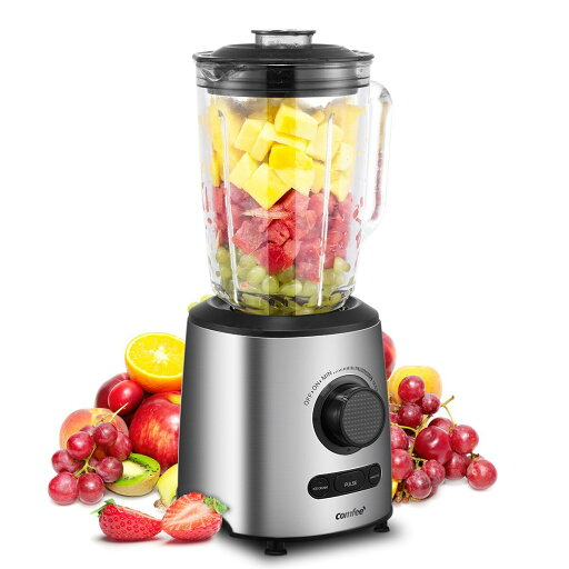 Comfee 500W Professional Smoothie Blender with 3 Preset Programs (Ice crush, Pulse, Smoothie) Variable Speeds control and 48 ounce BPA Free Glass Jar 3ad695ff60705bff444e29bb240b64cc