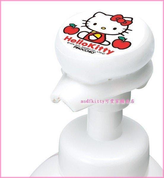 asdfkitty可愛家☆kitty瓶蓋壓頭-沐浴乳.洗手乳.洗髮精罐都可使用.壓一次30秒音樂-日本正版
