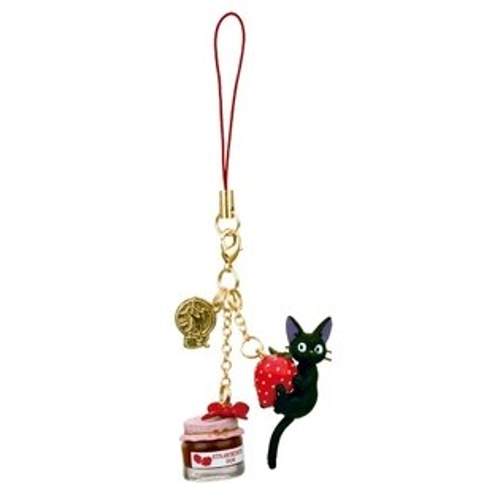 真愛日本:【真愛日本】10072900008甜品吊飾-草莓果醬魔女宅急便奇奇貓吊飾飾品日本帶回