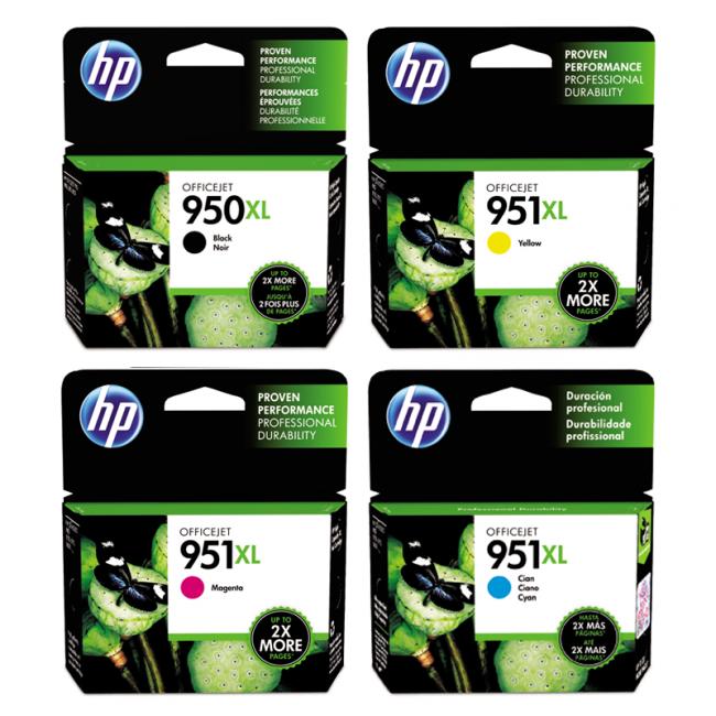 HP 950XL BLACK + 951XL High Yield Ink Set Officejet Pro 8100/8600 [RETAIL  BOXES]