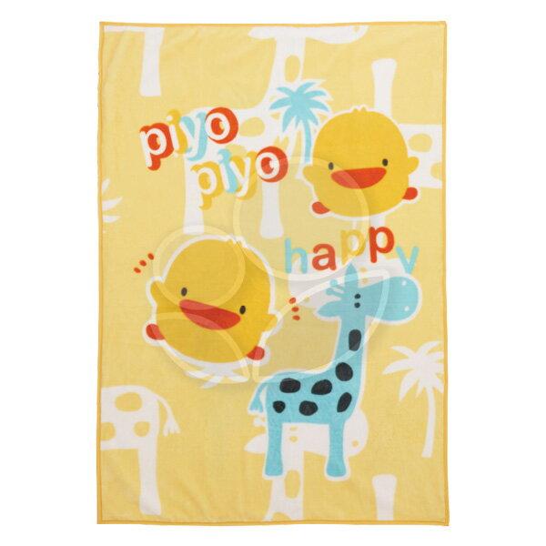 Piyo黃色小鴨雙層加大印花童毯【附提袋】【悅兒園婦幼生活館】