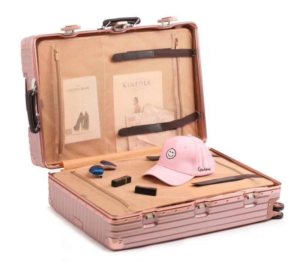 《箱旅世界》BoxTrip 20吋復古、懷舊防刮登機箱 行李箱 旅行箱 鋁框箱 3