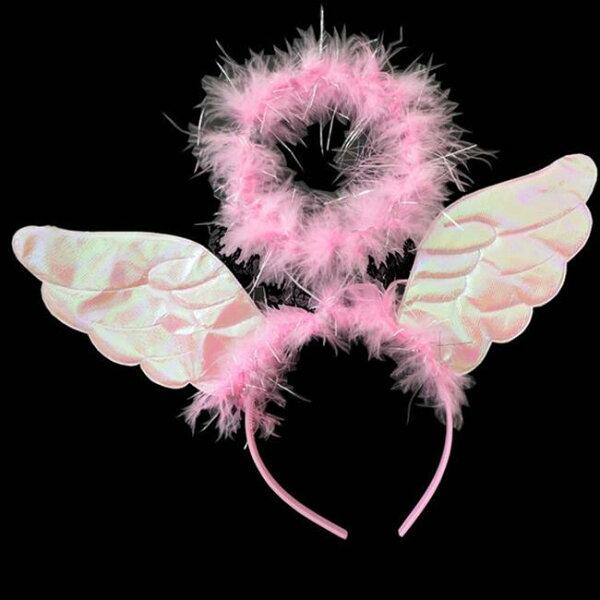 塔克玩具百貨:天使天使光圈光環翅膀髮箍髮飾萬聖節派對服裝角色扮演變裝搞笑裝扮【塔克】