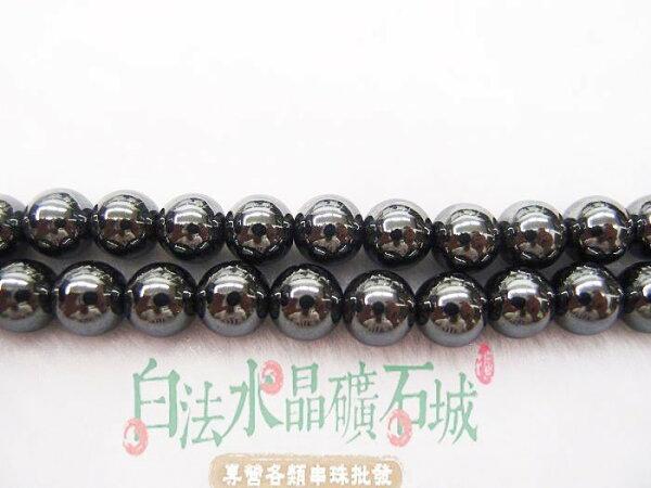 白法水晶礦石城巴西天然-黑膽石10mm串珠條珠首飾材料(團購優惠區9折)-3條1標