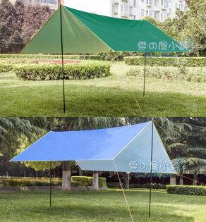 ╭☆雪之屋小舖☆╯3X3M300*300CM天幕地墊炊事帳露營帳客廳帳多用途防水布藍綠有銀膠抗UV