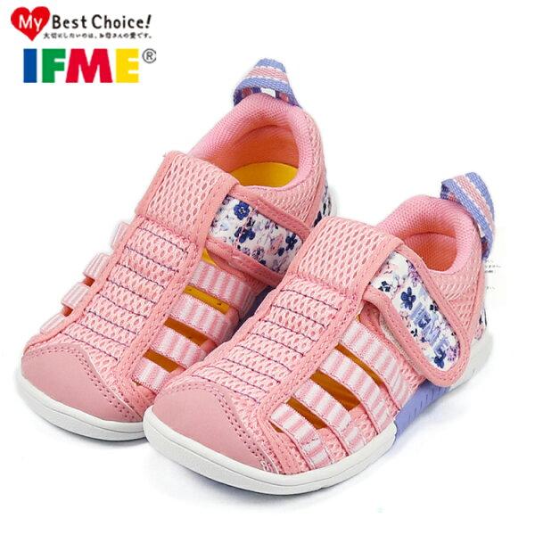 日本IFME中童款碎花粉透氣機能水涼鞋.包頭涼鞋.童鞋~EMMA商城