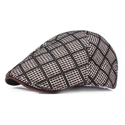 貝雷帽鴨舌帽-潮流印花休閒遮陽男女帽子2色73tv238【獨家進口】【米蘭精品】