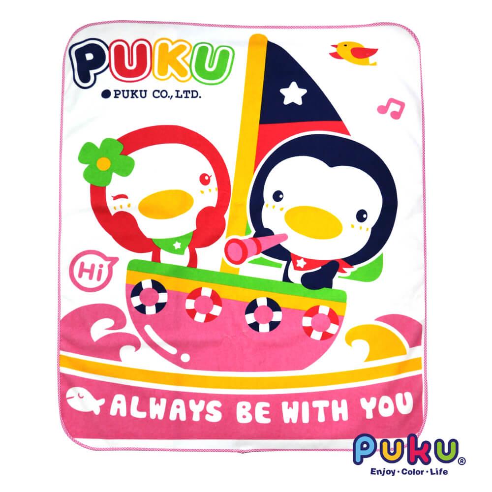 PUKU超柔兒童防濕墊80*100cm 水藍/粉 『121婦嬰用品館』