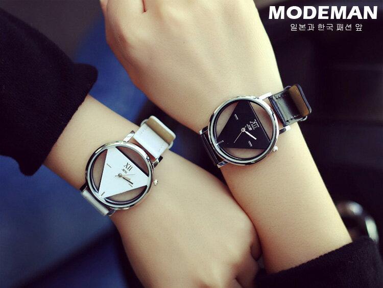 【MODE MAN】簡約質感三角形造型手錶 對錶 情侶錶『現貨+預購』