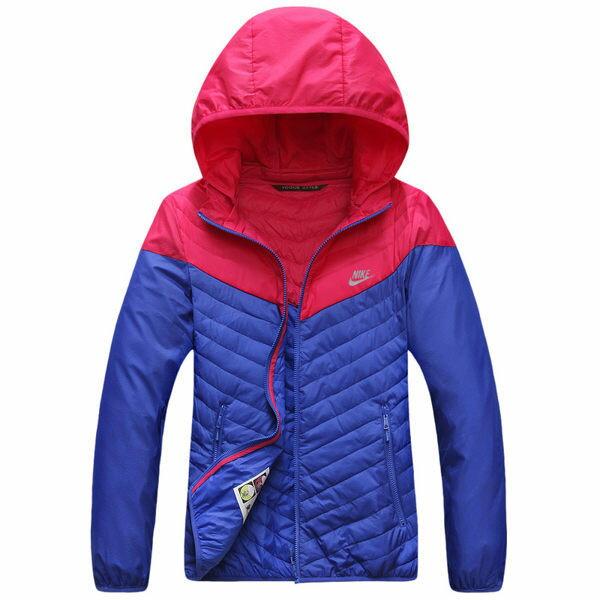 NIKE 輕薄防風外套 雙色有帽款 粉藍 女款 2XL