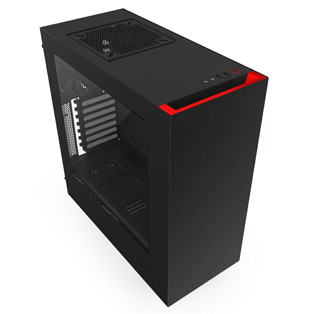 【迪特軍3C】含運 恩傑 NZXT Source 340 中塔式電腦機殼 USB3.0 SSD 冷軋鋼鍛 (黑紅)