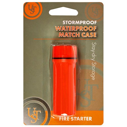 Ultimate Survival Technologies Camping Stormproof Waterproof Match Case, Orange WG01552 1