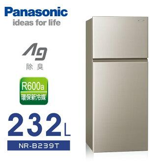 【Panasonic 國際牌】232L無邊框雙門電冰箱/亮彩金NR-B239T-R