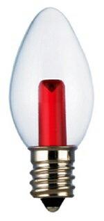 ★凌尚★蠟燭型透明LED蠟燭燈燈泡E12燈頭★紅色★台灣製