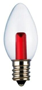 凌尚照明:★凌尚★蠟燭型透明LED蠟燭燈燈泡E12燈頭★紅色★台灣製神明燈