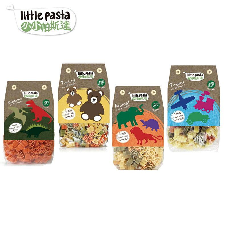英國【little pasta小小帕斯達】兒童義大利麵12M+(動物/泰迪熊/恐龍/交通工具) 造型麵-米菲寶貝