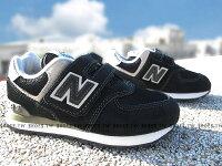 New Balance 美國慢跑鞋/跑步鞋推薦《下殺6折》Shoestw【YV574GK】NEW BALANCE 574 童鞋 運動鞋 中童 黑灰白 黏帶