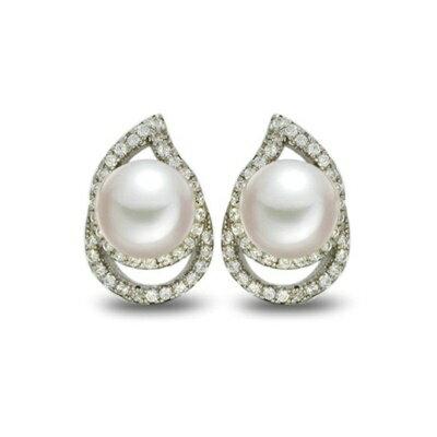 925純銀耳環鑲鑽耳飾~高貴大方典雅 母親節生日情人節 女飾品73dm153~ ~~米蘭