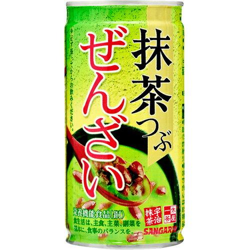 一休茶屋宇治抹茶紅豆湯 罐裝飲料/甜品 190g サンガリア 抹茶つぶぜんざい