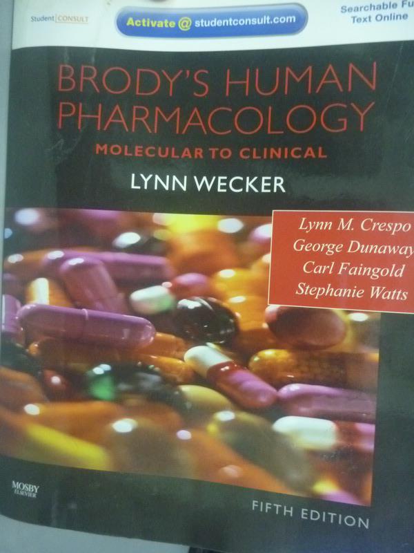 ~書寶 書T8/大學理工醫_ZFZ~Brody s Human Pharmacology5