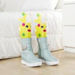 WallFree窩自在★卡通 可調高度靴撐片彈力靴撐-黃色小鹿