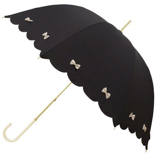 日本代購預購蝴蝶結遮陽傘雨傘直立傘晴雨兩用傘長傘單人傘用傘紙箱運送555-14116