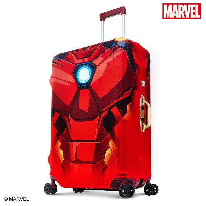【加賀皮件】DESENO Marvel 漫威英雄造型 3D 防刮彈性 旅行箱保護套 行李箱套 鋼鐵人 L號(28-29吋) 0003