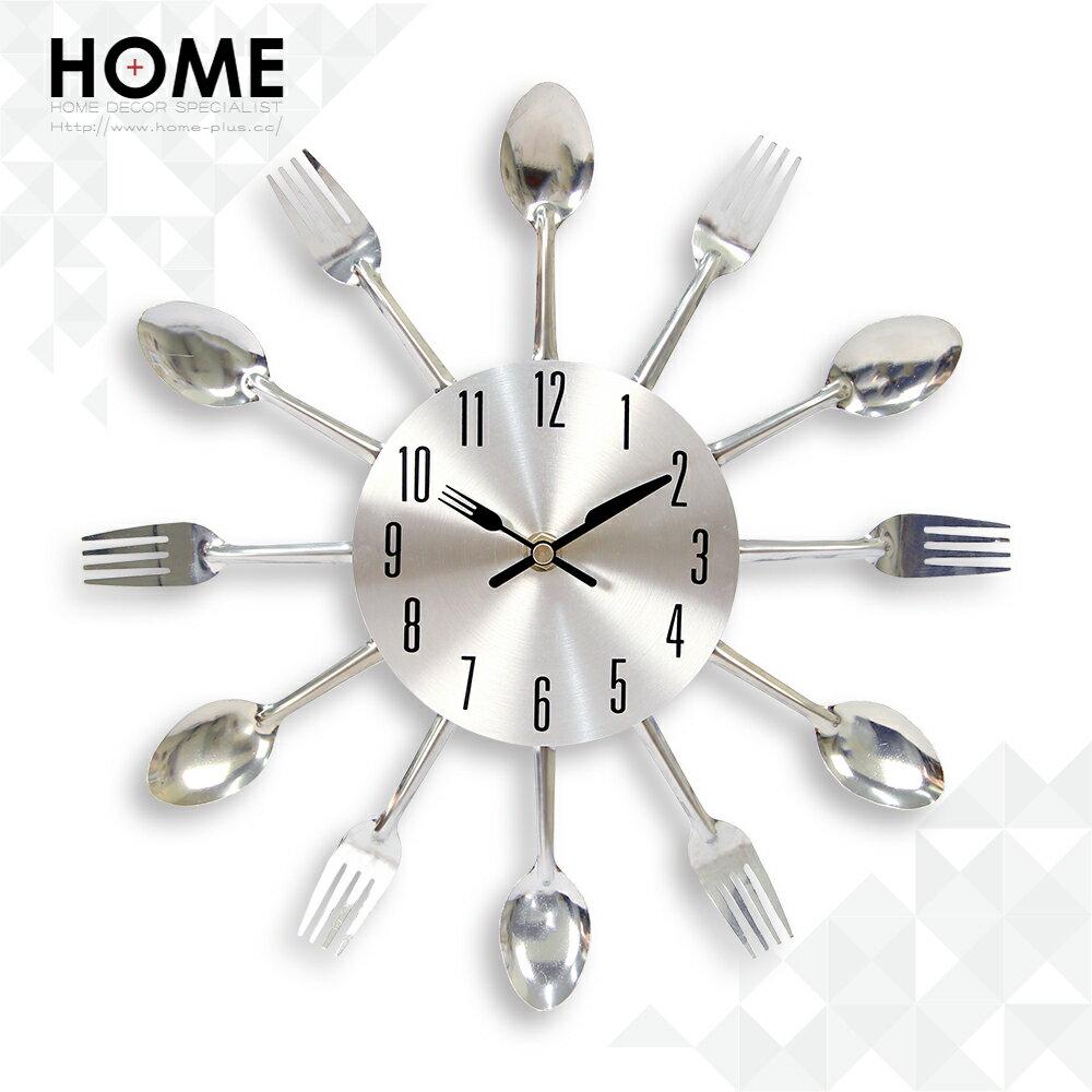 HomePlus 金屬DIY 餐具時鐘 刀叉 湯匙 掛鐘 壁鐘 鐵藝鐘 工業風 鄉村風 設計 家居 裝潢 布置 裝飾 Clock