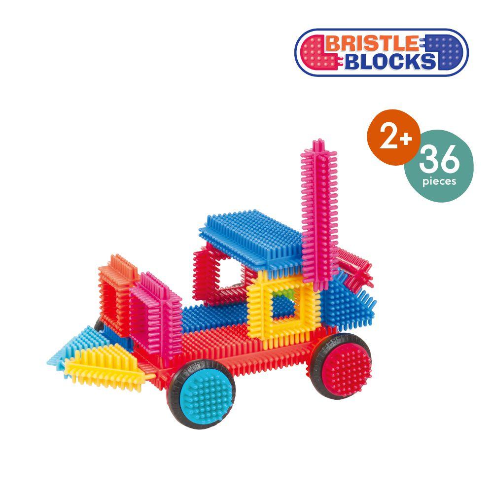 【淘氣寶寶】 美國 B.Toys 感統玩具 Battat BB鬃毛積木 36 PCS