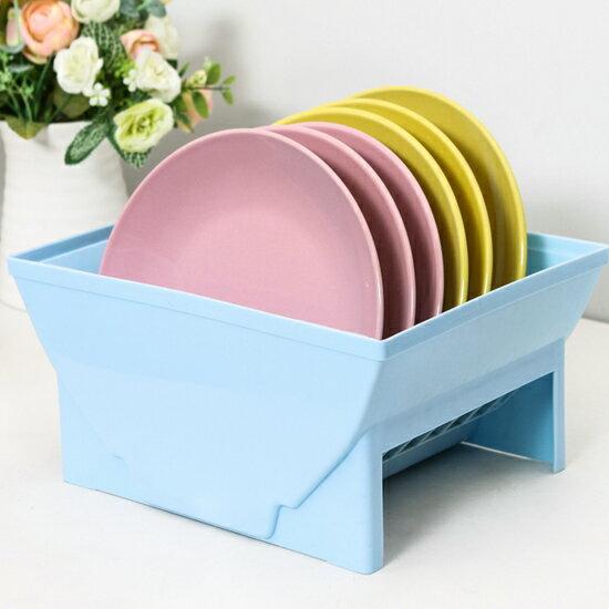 ♚MY COLOR♚碗碟瀝水置物架 廚房 通風 瀝乾 乾淨 衛生 檯面 餐具 盤子 菜盤 洗碗 水杯 倒瀝【A27】