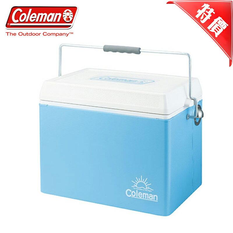 【露營趣】特價款 Coleman CM-22233 26.5L 美國藍復古鋼甲冰箱 冰桶 野餐露營保冷保溫