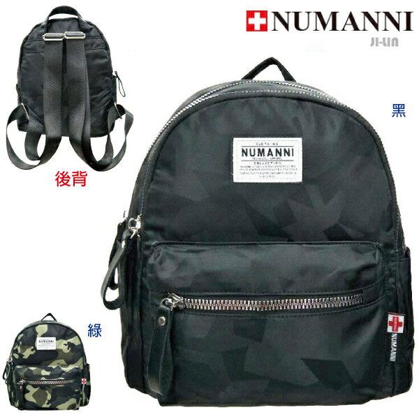 79-9727【NUMANNI 奴曼尼】顯眼出色多層收納防水尼龍幾合迷彩後背包 (二色)