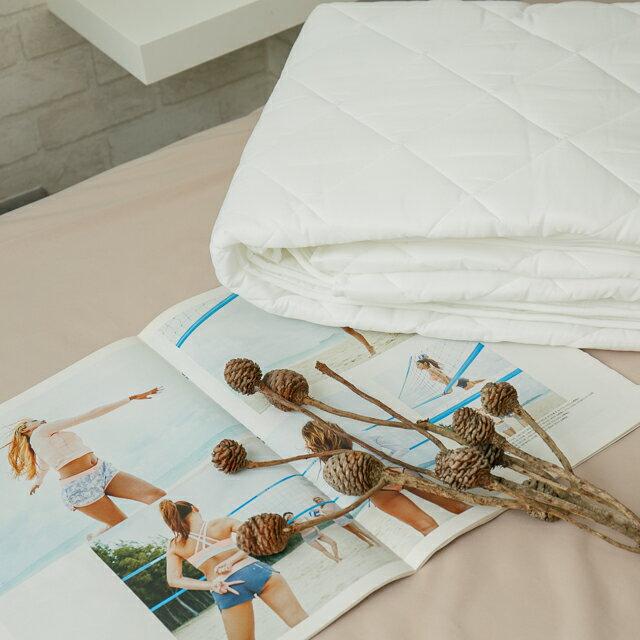 雙人加大  平單式保潔墊 抗菌防污 台灣製 厚實鋪棉 4