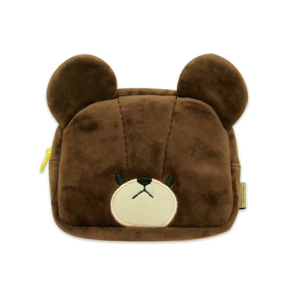 【禾宜精品】小熊學校 傑琪造型 15*11*3.5cm 化妝包 收納包 生活百貨 *正版 B102009-A1