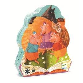 『121婦嬰用品館』DJECO 智荷 拼圖屋-三隻小豬