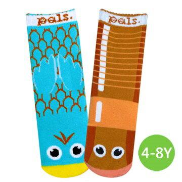 ★衛立兒生活館★美國Pals Socks 好夥伴寶寶襪-小鳥蟲蟲(4-8Y)