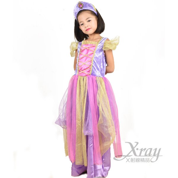 X射線~W380171~粉紫公主長裙,化妝舞會  角色扮演  尾牙  萬聖  聖誕  兒童