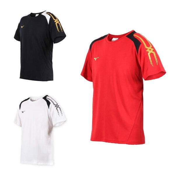 MIZUNO男短袖T恤(免運訓練短袖上衣排球慢跑路跑美津濃【03312805】≡排汗專家≡