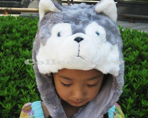 【M13100906】哈士奇毛帽 小狗造型帽 動物保暖帽 大人小孩都可戴