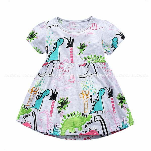 女童短袖洋裝 印花連身裙  BST0139 好娃娃